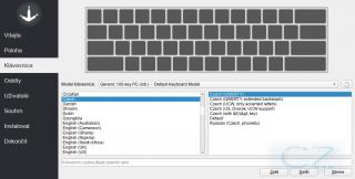 Výběr klávesnice